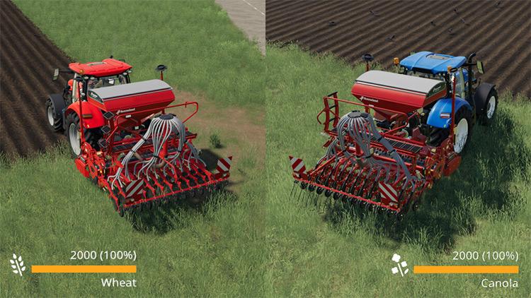 Real seed usage FS19 Mod