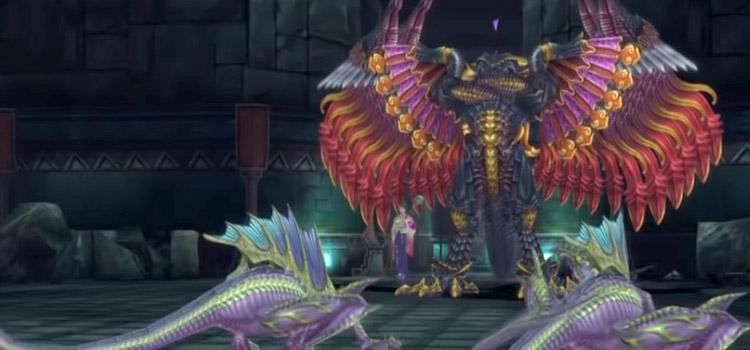 Bahamut and Yuna in battle/ FFX HD Screenshot