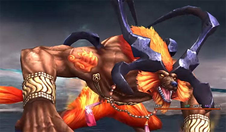 Ifrit Aeon in Final Fantasy X HD