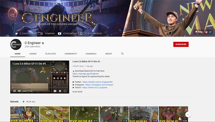 C Engineer YouTube Channel Screenshot