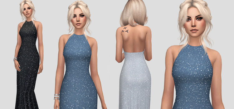 Long 'Kate' Dress CC for The Sims 4