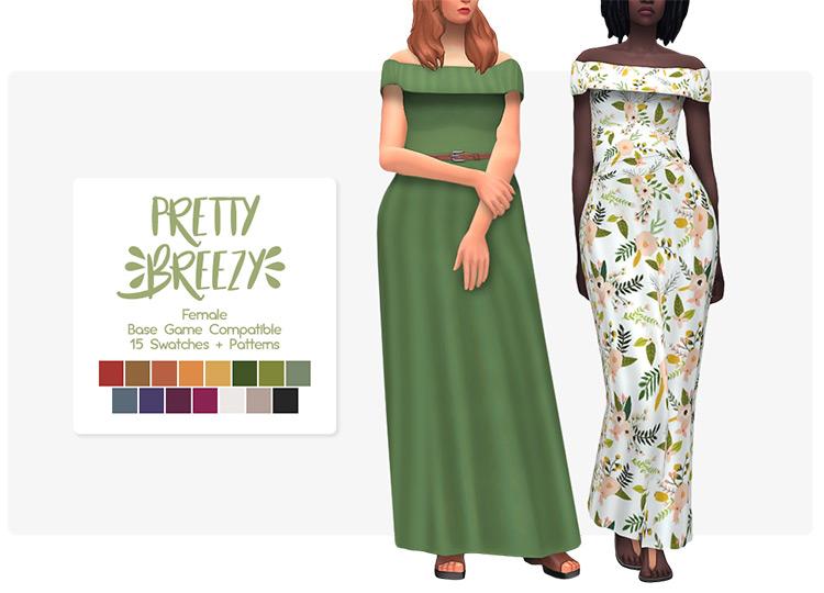 Pretty Breezy Dress / TS4 CC