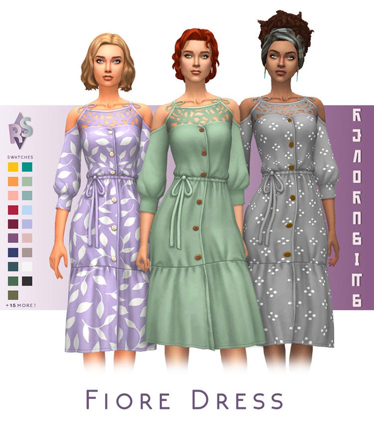 Fiore Dress / Sims 4 CC