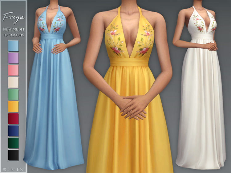 Freya Dress for The Sims 4