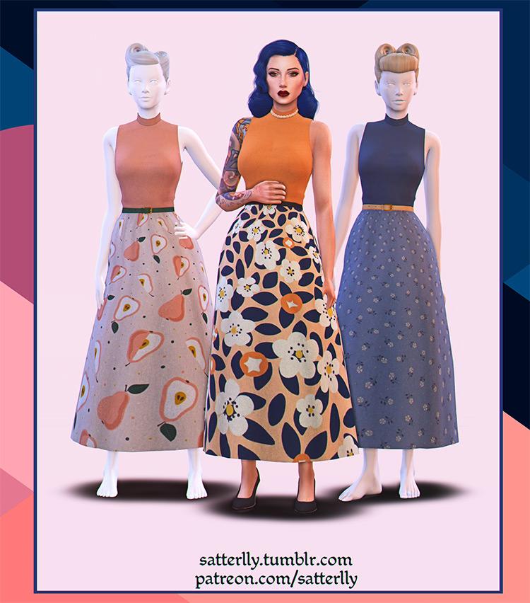 Kristina Long Dress / Sims 4 CC