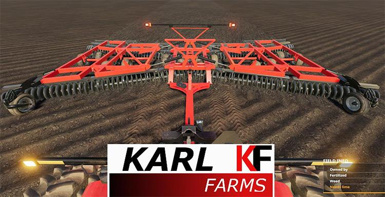Case IH True-Tandem 375 Disk Harrow Farming Simulator 19 Mod