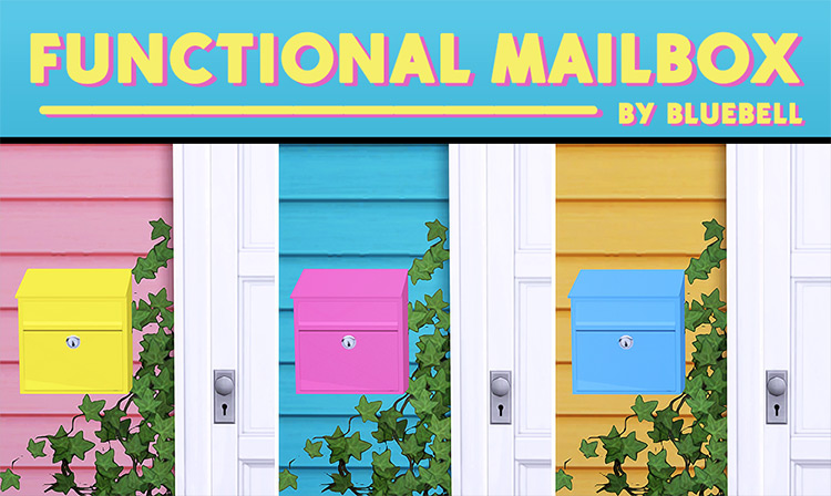 Functional Wall Mailboxes / Sims 4 CC