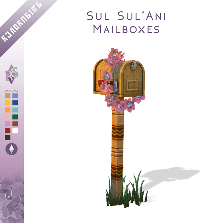 Sul' Sulani Mailboxes for The Sims 4