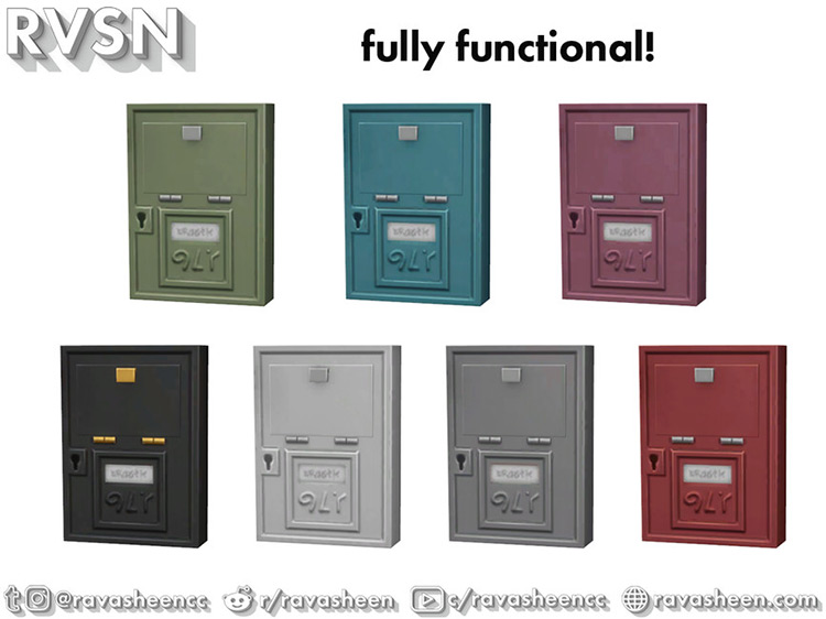 Shut The Front Door Mailboxes / Sims 4 CC
