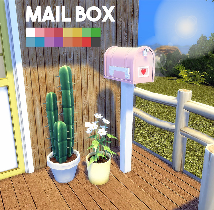Mailbox Recolor Maxis Match TS4 CC