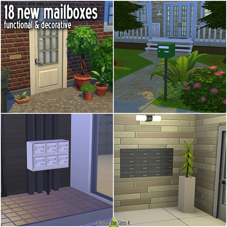 Functional Mailboxes Set for The Sims 4