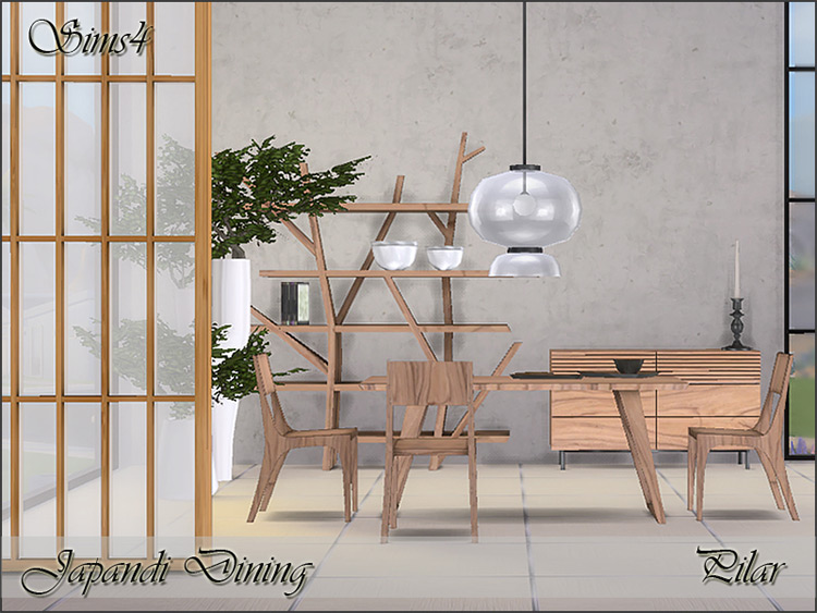 Japandi Dining for Sims 4