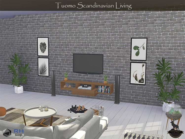 Tuomo Scandinavian Living Set / Sims 4 CC