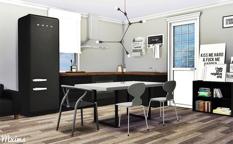 Scandinavian Dining Room CC for The Sims 4