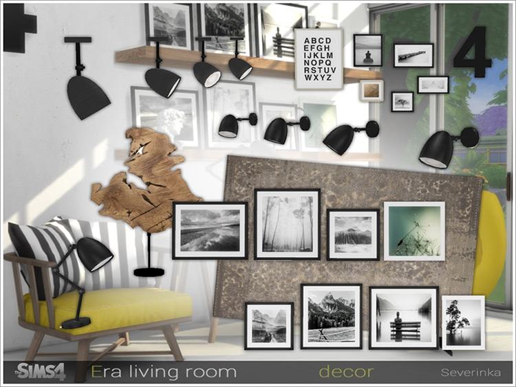 Era Livingroom Décor CC for The Sims 4