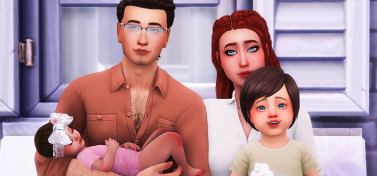 Cute Family Pose with kids in The Sims 4