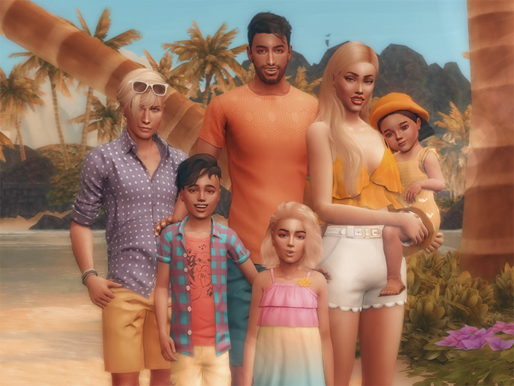 Family Portrait Poses Set for The Sims 4