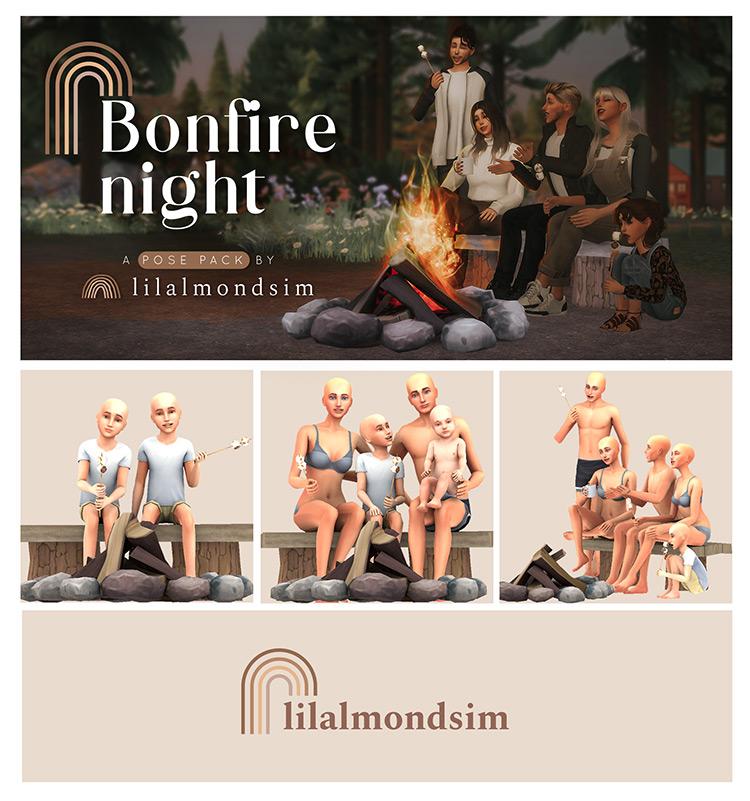 Bonfire Night Poses / TS4 CC