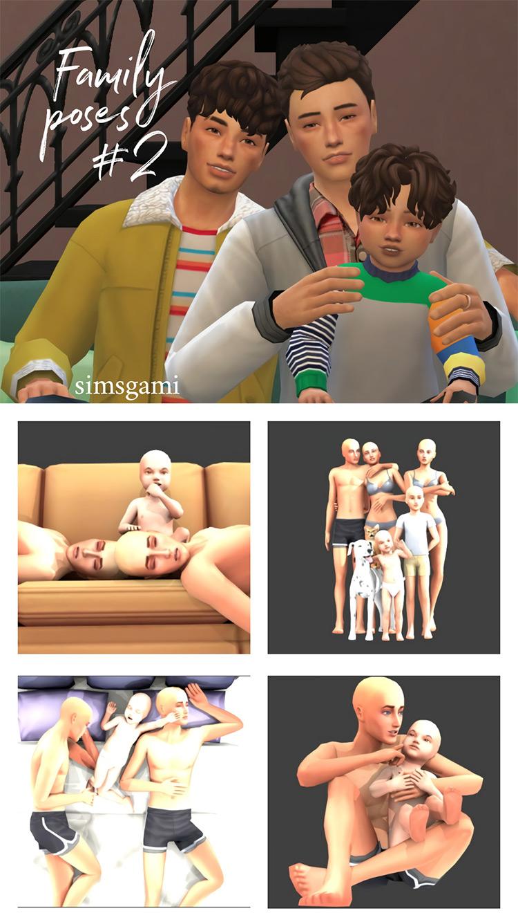 Family Poses Set #2 / Sims 4 CC