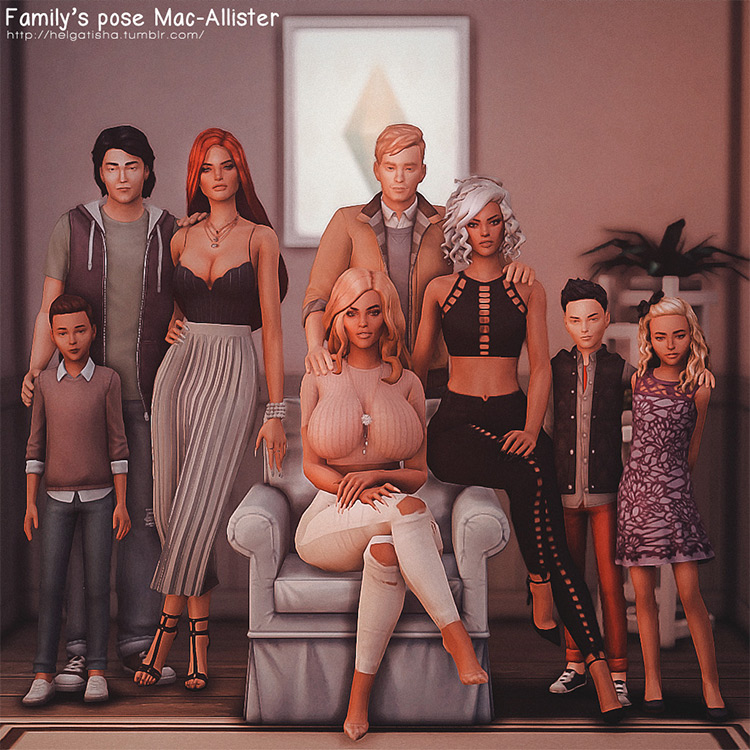 Family's Poses Mac Allister for The Sims 4