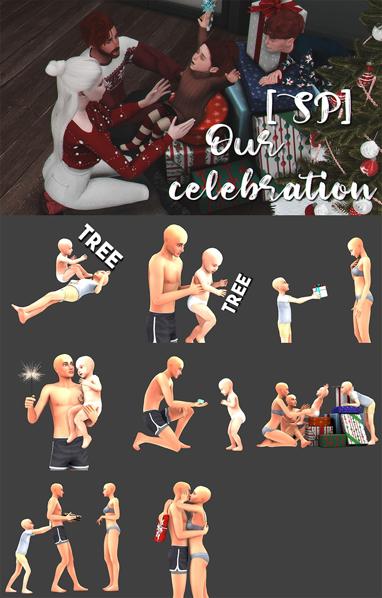 Our Celebration Poses for The Sims 4