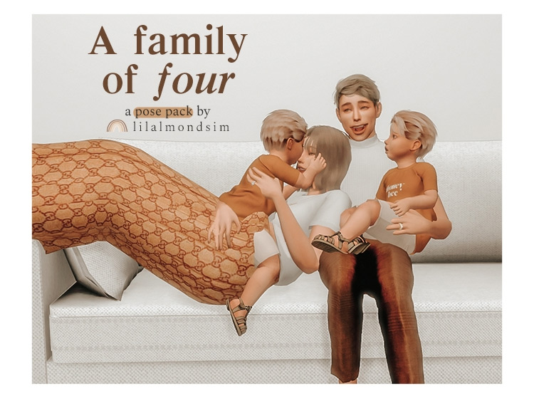 A Family of Four Posepack / Sims 4 CC