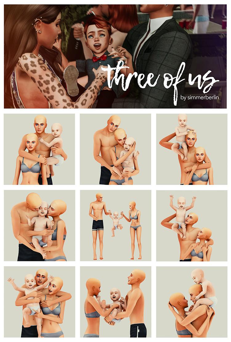 Three of Us Poses / TS4 CC