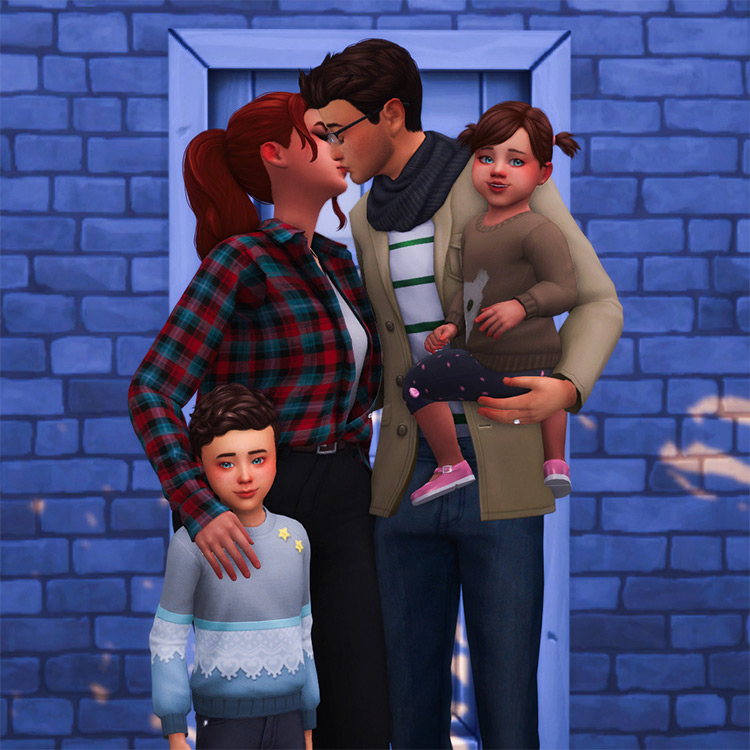 Family is Everything Pose Preview for The Sims 4