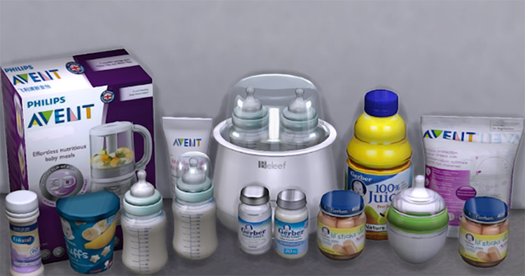 Baby Clutter Set Sims 4 CC