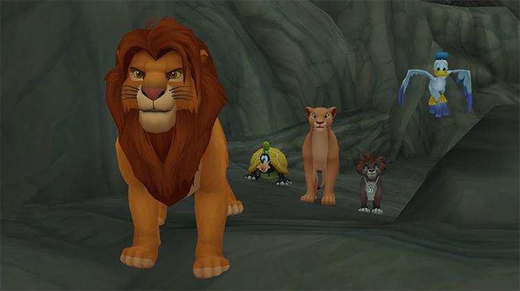 Simba in Kingdom Hearts 2