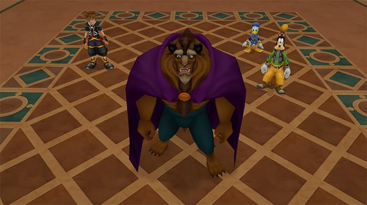 Beast in Kingdom Hearts HD 2.5