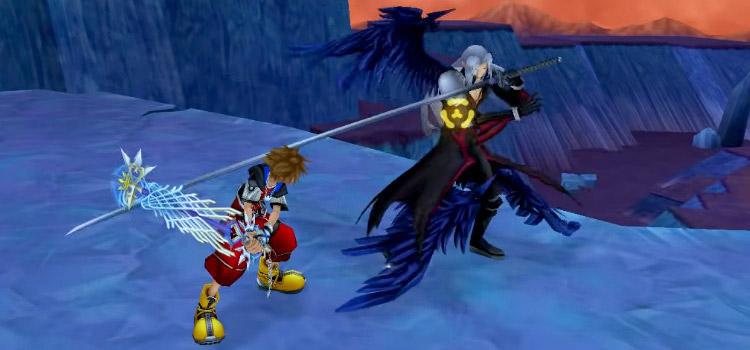 KH2 HD Sora vs Sephiroth Boss Battle Screenshot