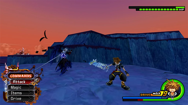Sephiroth Fight in KH2