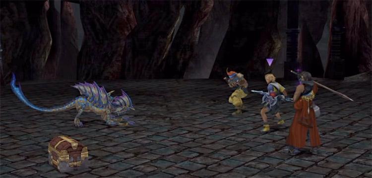 Mimic treasure chest fiend in FFX HD