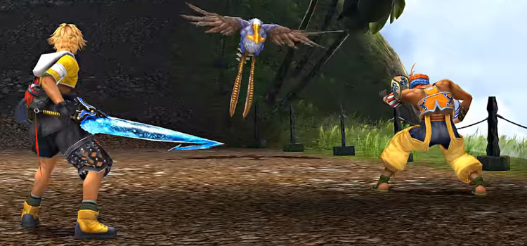 FFX HD / Tidus and Wakka in battle on Besaid