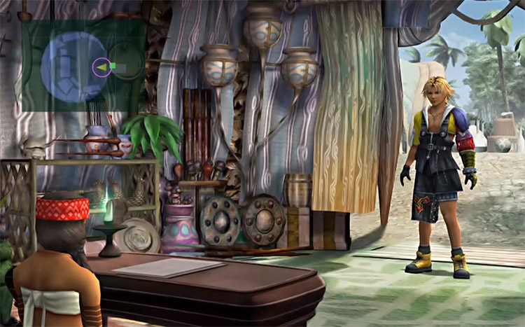 Inside Besaid Item Shop in FFX HD