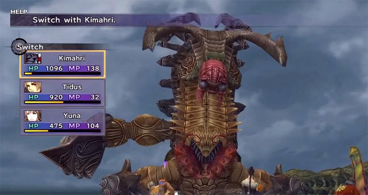 Sinspawn Gui Battle Screenshot in FFX HD