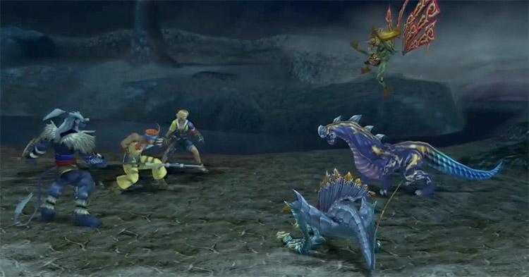FFX HD Kimahri in battle