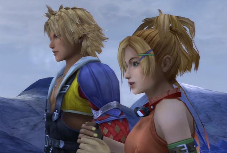 Rikku and Tidus Cutscene in FFX HD