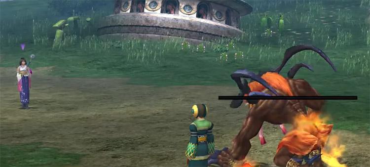 Yuna in Belgemine battle / FFX HD