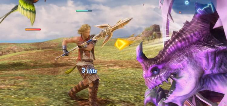Basch Uhlan Battle Pose in FF12 The Zodiac Age