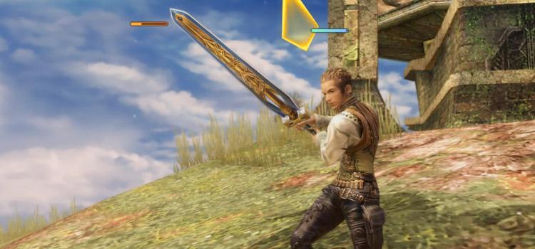 Balthier Greatsword Knight Pose in FF12 The Zodiac Age
