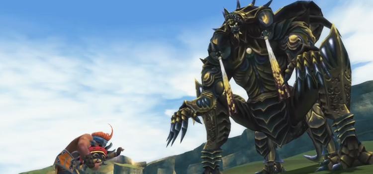 Wakka vs Nemesis in Final Fantasy X Remastered