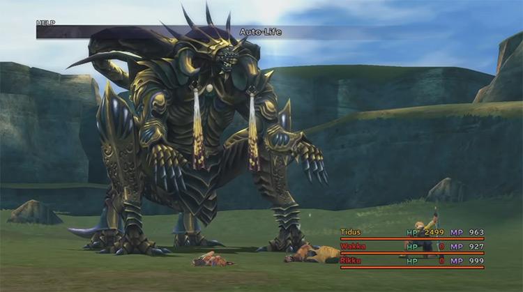 Nemesis FFX boss battle screenshot