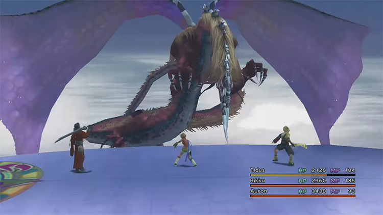 Evrae Battle in FFX HD