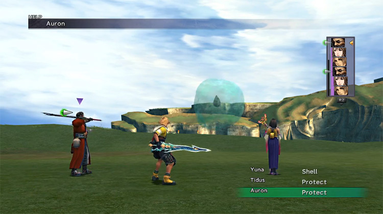 Greater Sphere FF10 HD boss battle