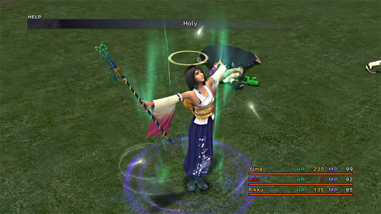 Holy spell in Final Fantasy X