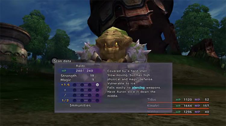 Scan spell in FFX