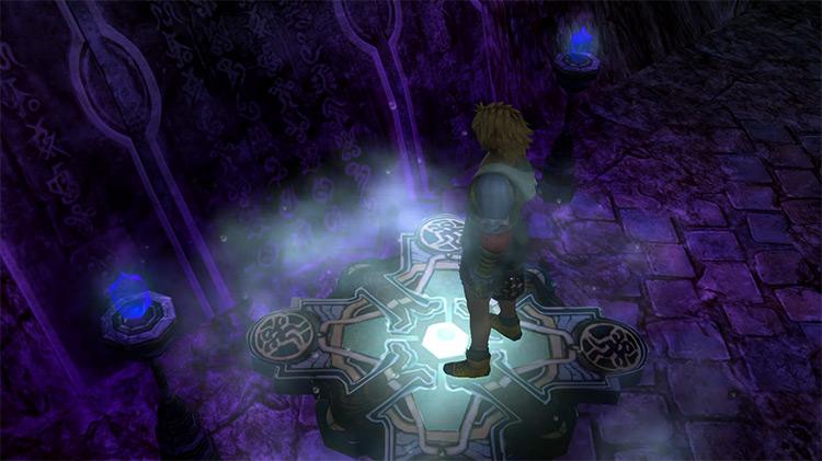 Inside Omega Ruins / FFX screenshot