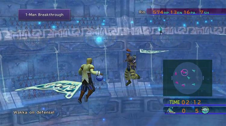 Blitzball with Wakka in Final Fantasy X